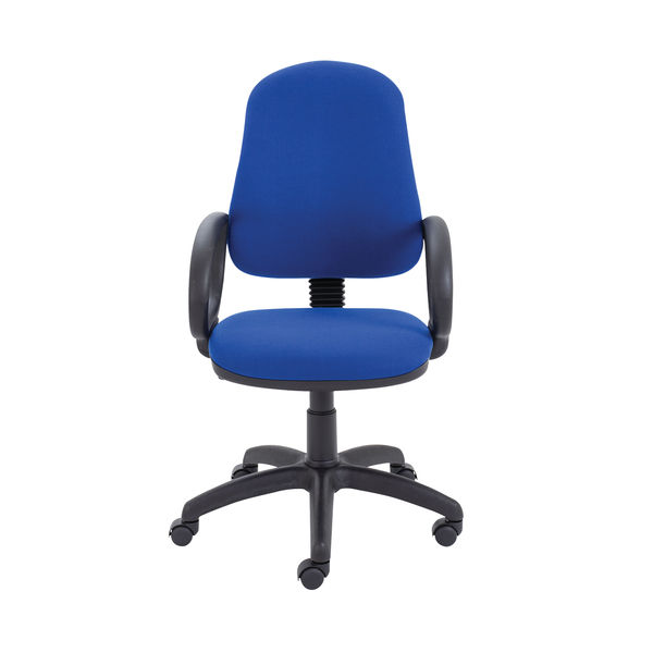 Jemini Teme Mid Back Single Lever Office Chair Fixed Arms in Royal Blue