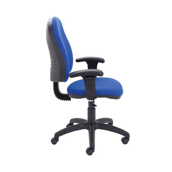 Jemini Teme Mid Back Single Lever Office Chair Adjustable Arms in Royal Blue