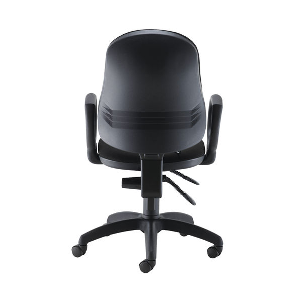 Jemini Intro High Back Posture Office Chair Fixed Arms in Black