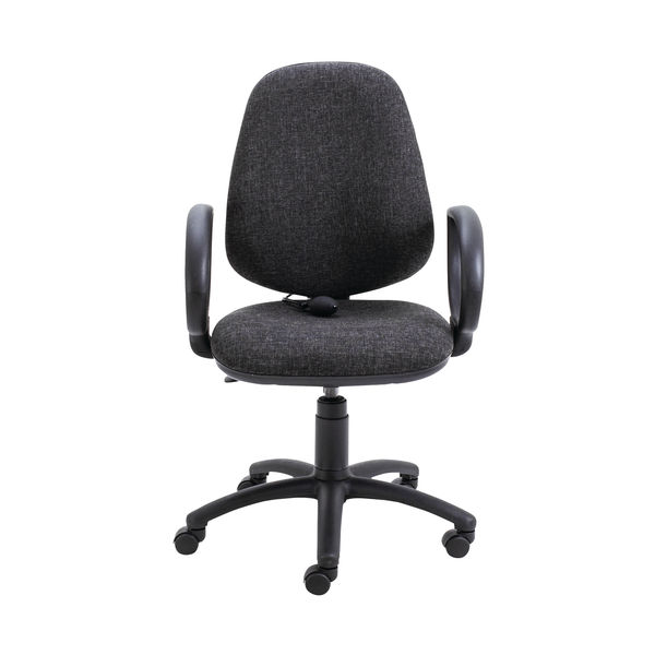 Jemini Intro High Back Posture Office Chair Fixed Arms in Charcoal