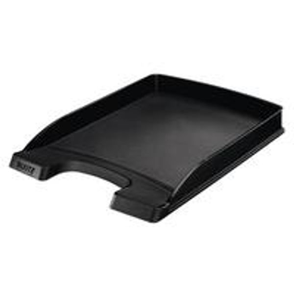 Leitz Plus Slim Letter Tray Black 52370095