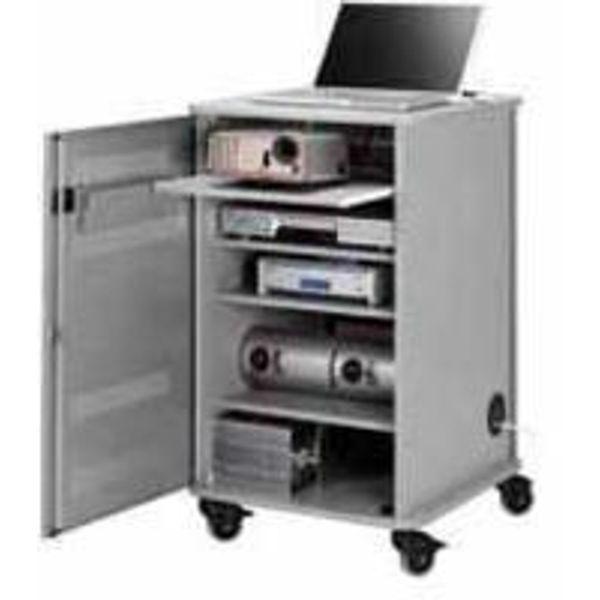 Nobo Multimedia Projection Trolley Cabinet, Grey - 1902339