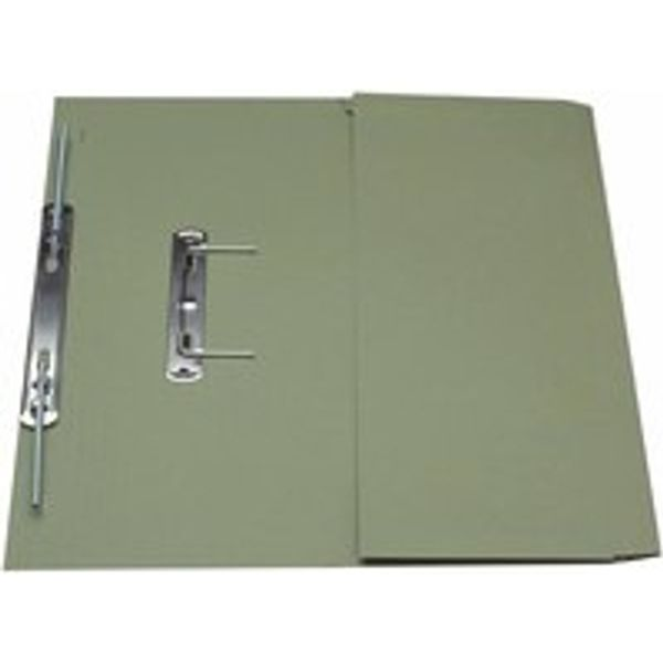 Guildhall Foolscap Green Transfer Spiral Pocket Files 315gsm, Pk25 - GH22138