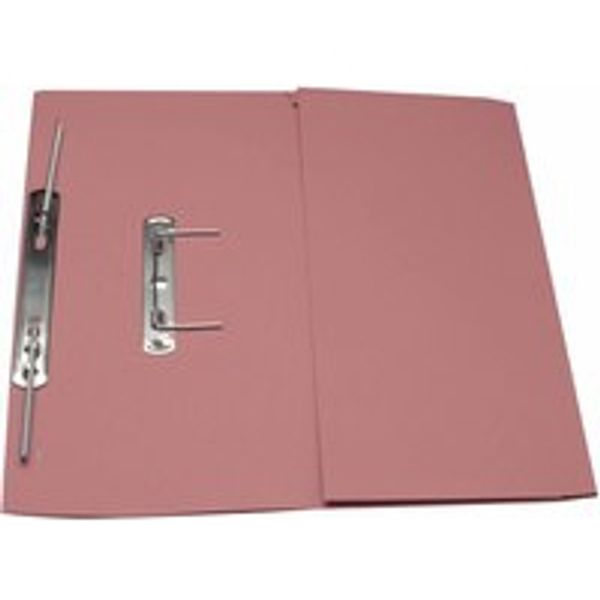 Guildhall  Pink Foolscap Transfer Spiral Pocket Files, 315gsm, Pack 25 - GH22141