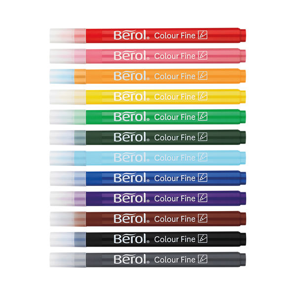 Berol Colourfine Pens Assorted (Pack of 42) CFT S0376490
