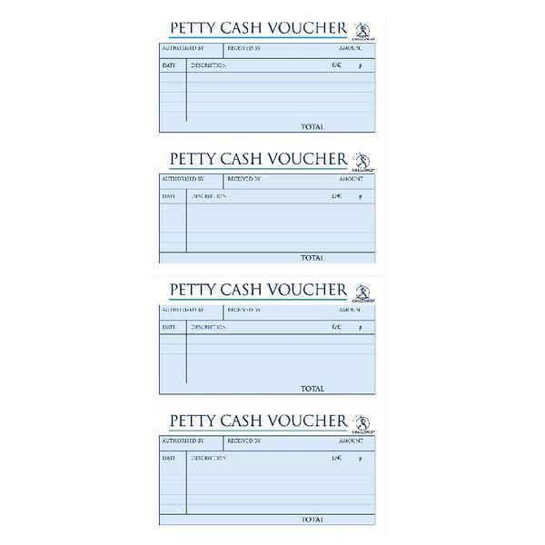 Challenge Carbonless Petty Cash Book 200 Duplicate Slips - JDJ71989