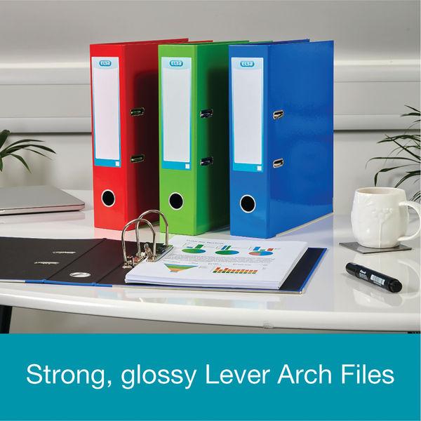 Elba Classy A4 Metallic Silver 70mm Lever Arch File - 400021007