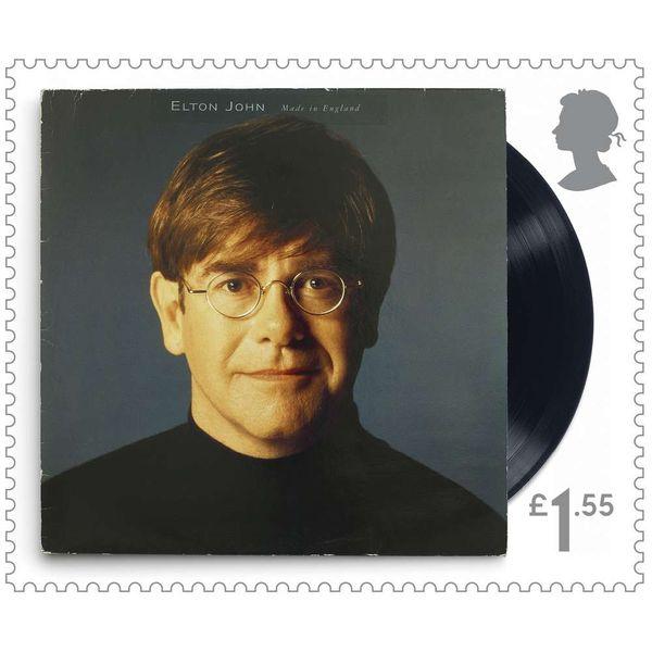 The Elton John Framed Stamp Set