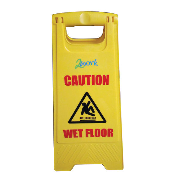 2Work A Frame Wet Floor Sign, Yellow | 101423
