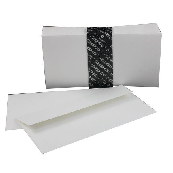 Conqueror DL Assorted Envelopes 120g sm Plain Laid High White | Box of 500 | 01440