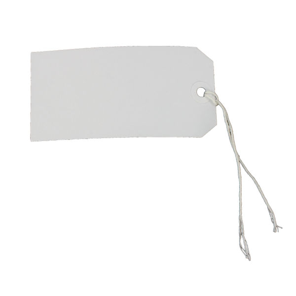 Merit Strung Tags 120mm x 60mm White 75 Tags | TG8014