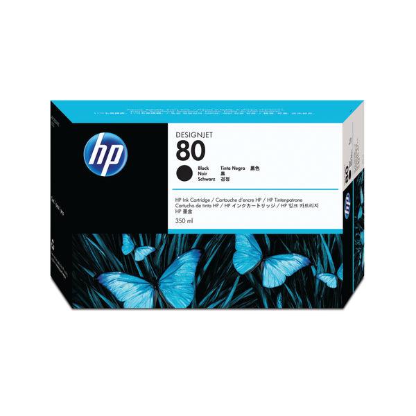 HP 80 Black Inkjet Cartridge 350ml | C4871A