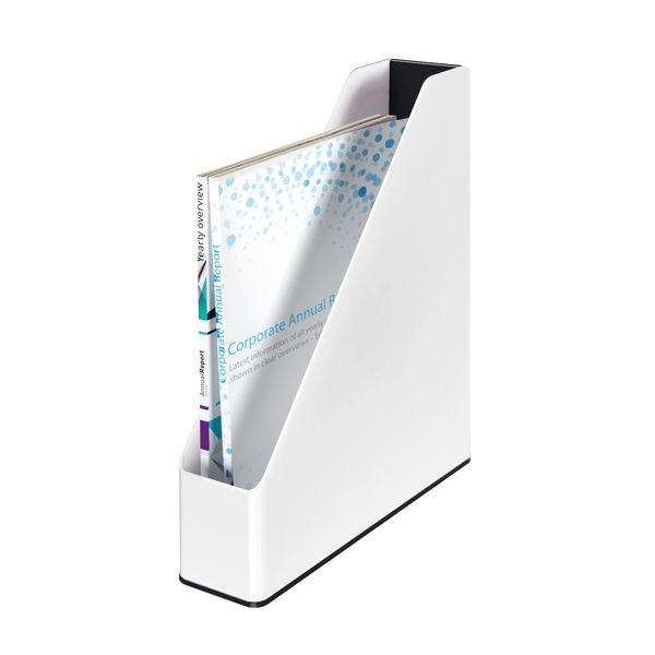 Leitz WOW White and Black Dual Colour Magazine File- 53621095