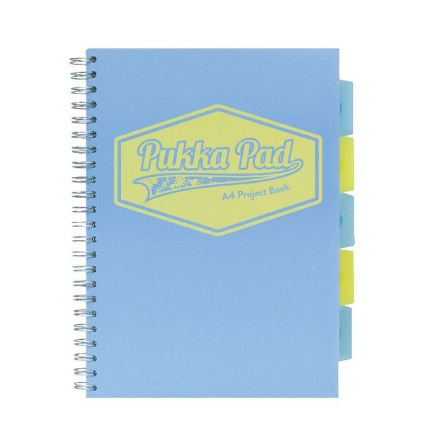 Pukka Pad Assorted Pastel A4 Project Book, Pack of 3 - 8630-PST