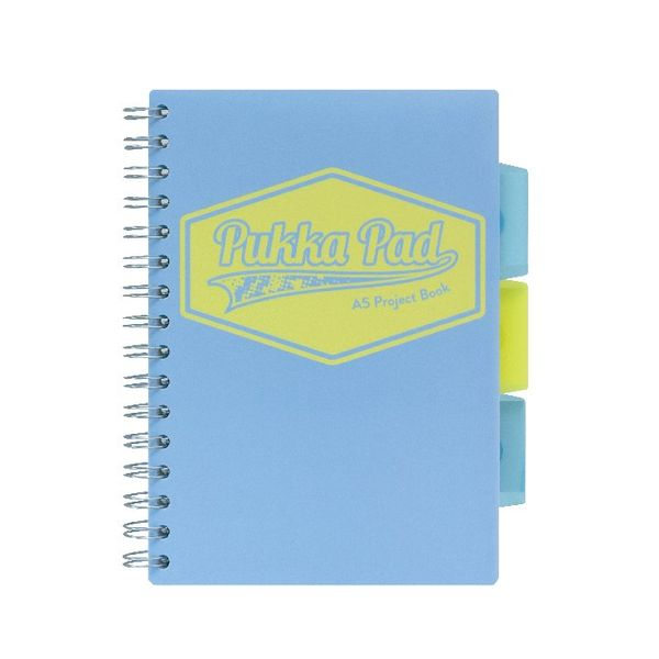 Pukka Pad Assorted Pastel A5 Project Book, Pack of 3 - 8631-PST