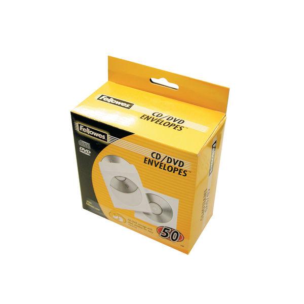 Fellowes CD Paper Envelopes White [Pack of 50] BB90690