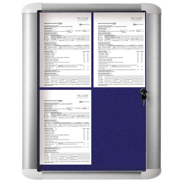 Bi-Office External Display Case 600x450 Blue Felt OEM: VT610107230