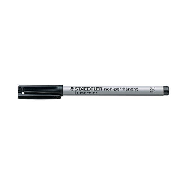 Staedtler Lumocolor Pen Superfine Non-Permanent Black (Pack of 10) 311-9