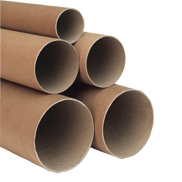 Kraft 330 x 50mm Brown Postal Tubes, Pack of 25 - PT-050-15-0330