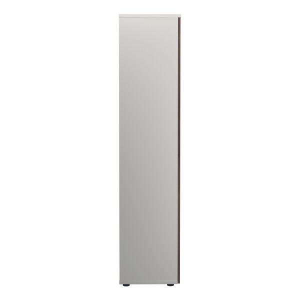 Jemini 2000 x 450mm White/Dark Walnut Wooden Cupboard