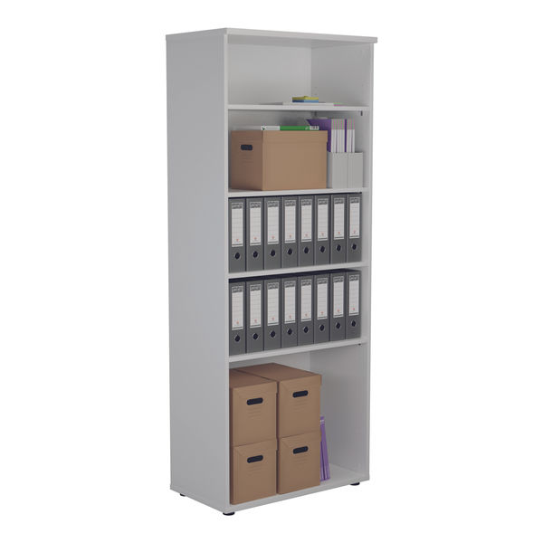 Jemini 2000 x 450mm White Wooden Bookcase