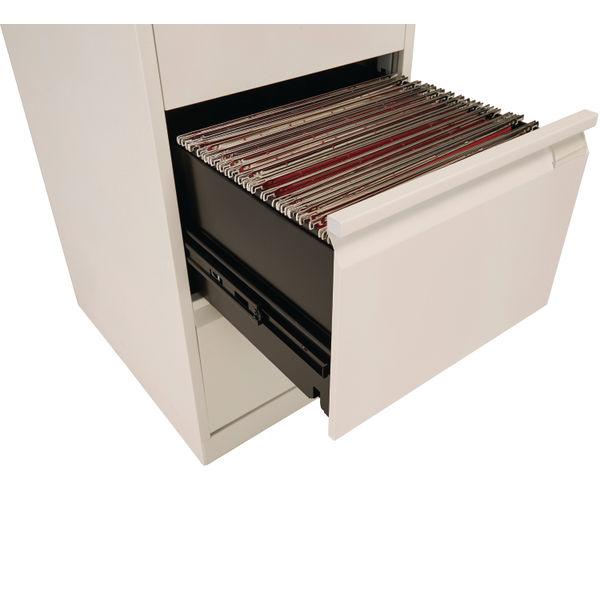 Bisley 1321mm Goose Grey 4 Drawer Flush Fronted Filing Cabinet - BS4EGY