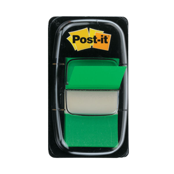 Post-it Index Tabs 25mm Green (Pack of 600) 680-3