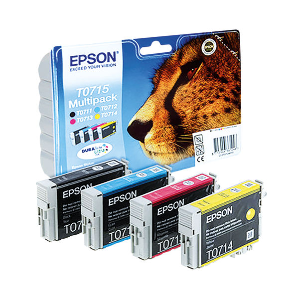 Epson T0715 CMYK Ink Cartridge Multipack - C13T07154012