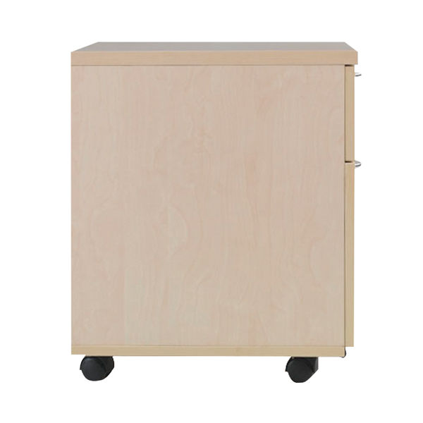 Jemini Maple 2 Drawer Mobile Pedestal