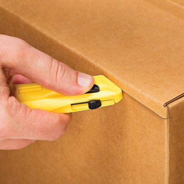 Safety Knife Yellow Ambidextrous Three Button Design EZ-3