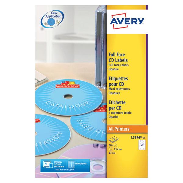 Avery DVD CD Laser Labels 50 Labels L7676-25