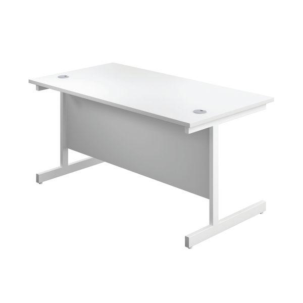 First 1800mm White/White Single Rectangular Desk
