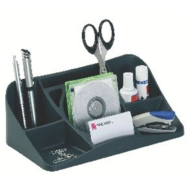 Rexel Agenda2 Charcoal Desk Tidy 2101028