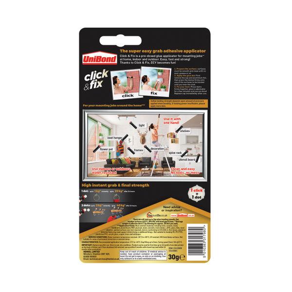 Unibond No More Nails Click n Fix 30gm 2312989