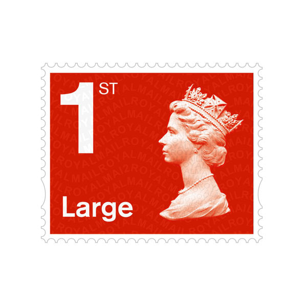 1st Class Large Stamps x 50 (Self Adhesive Stamp Sheet) - SA1L RED