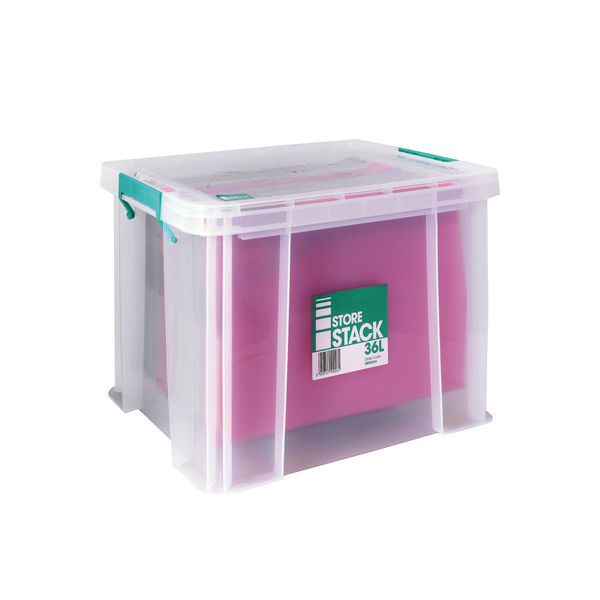 StoreStack 36L Storage Box with Lid - S20W360VW