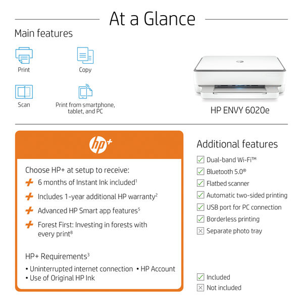 HP ENVY 6020e AiO Printer 223N4B#687