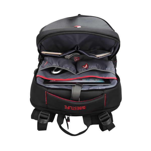 BestLife 17 Inch Gaming Snake Eye Backpack with USB Connector Black BB-3332R