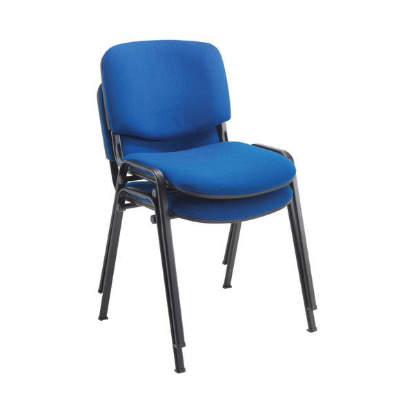 First Ultra Blue/Black Multipurpose Stacker Chair