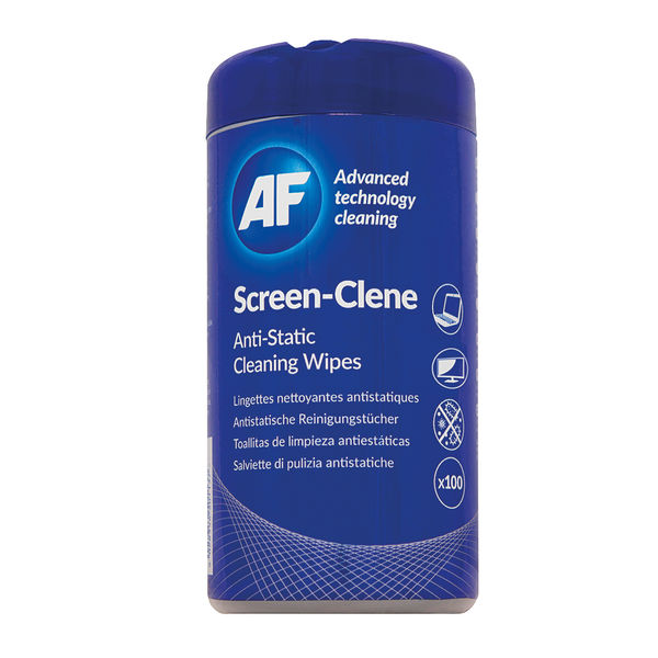 AF Screen Clene Tub of 100 Wipes ASCR100T