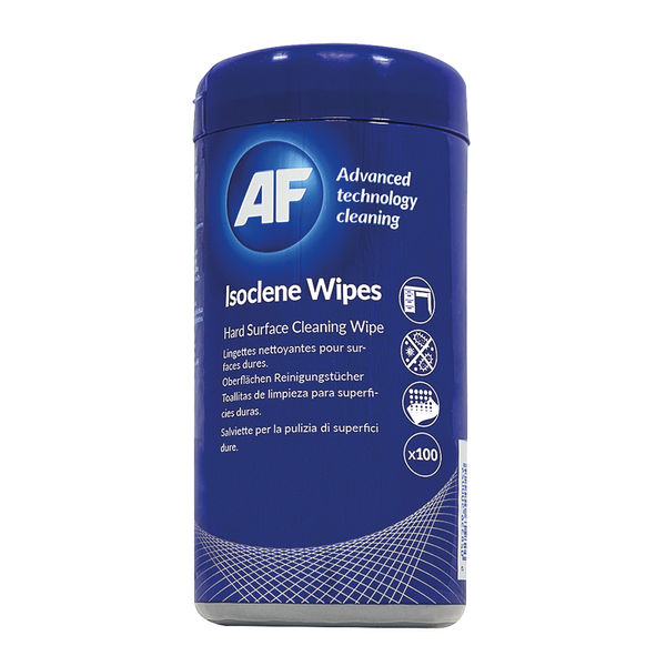 AF Isoclene Tub of 100 Wipes AISW100