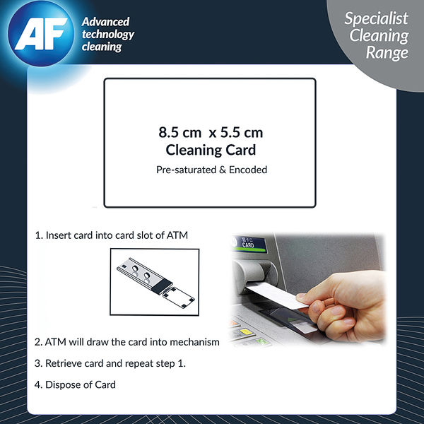 AF Cardclene ATM Magnetic Cleaning Cards, Pack of 20 - CCE020C