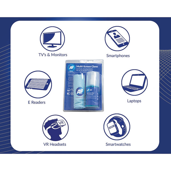 AF 200ml Multi-Screen Clene and Large Microfibre Cloth - AMCA_200LMF