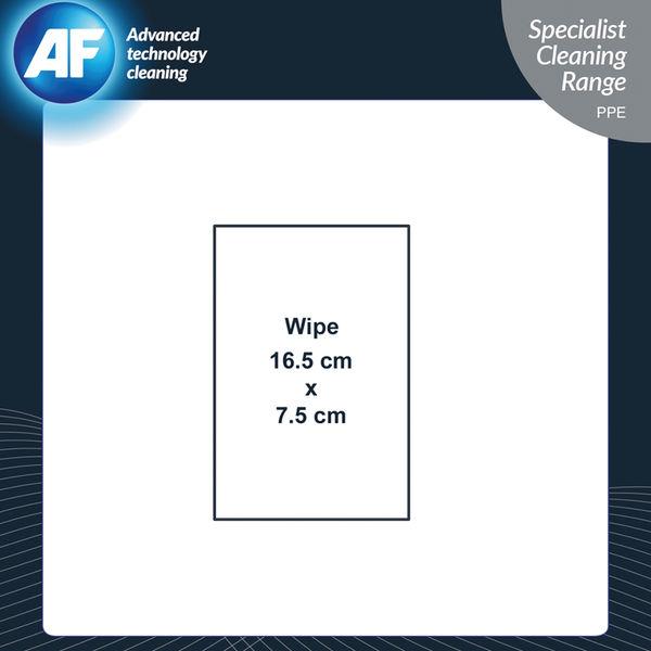 AF Safety Glasses Cleaning Wipes, Pack of 50 - SGCS050
