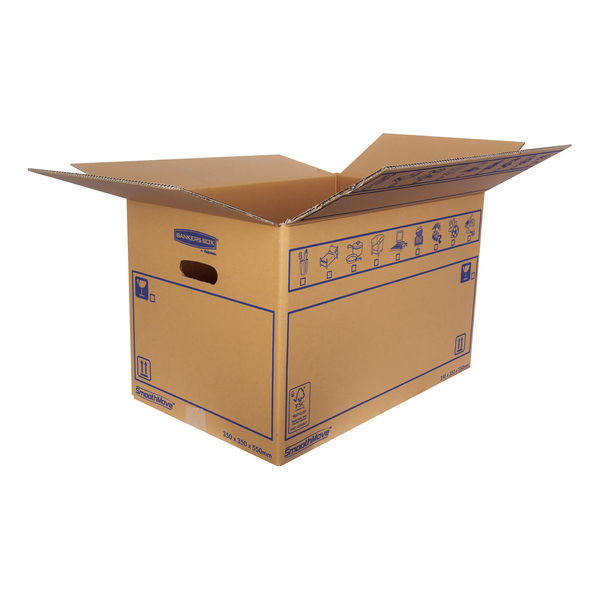 Bankers Box SmoothMove 350 x 350 x 350mm Brown Standard Moving Boxes, Pack of 10 - 6207301