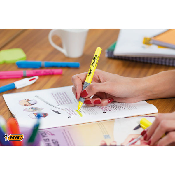 BIC Marking Assorted Brite Highlighters, Pack of 5 - 893133