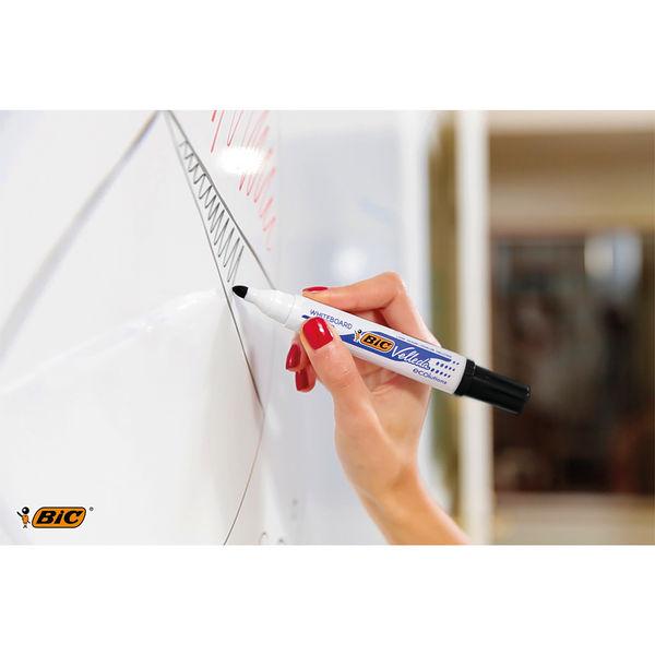 Bic Velleda 1701 Black Bullet Tip Whiteboard Marker, (Pack of 48) - 927258