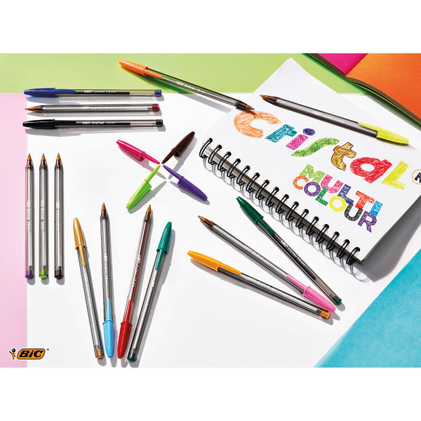 Bic Cristal Fun Ballpoint Pen Large Purple (Pack of 20) 929055