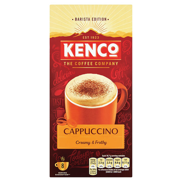 Kenco Cappuccino Instant Sachet (Pack of 8) 4019274