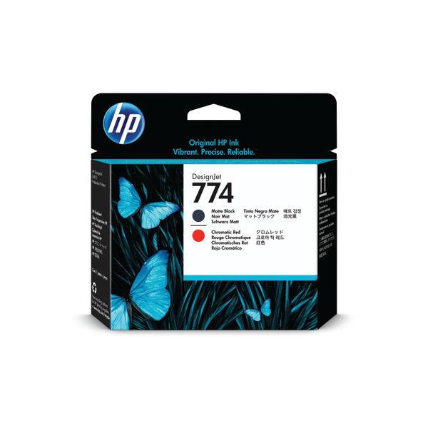 HP 774 Matte Black and Chromatic Red Printhead - P2V97A